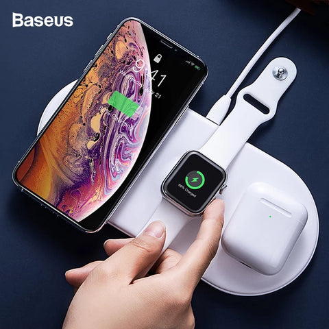 Baseus Wireless Load 3 in 1 Charging Pad for Airpods/ iWatch/ iPhone
