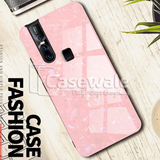 Luxury Marble Pattern Tempered Glass Case for Vivo V15