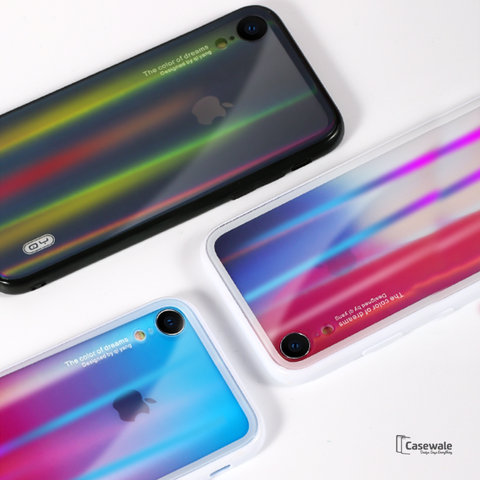 Aurora Gradient Glass Phone Case For iPhone XR