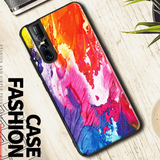 Color Splash Marble Pattern Glass Case for Vivo V15 Pro