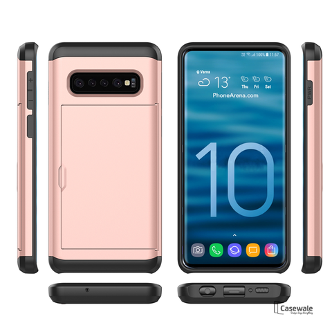 Armor Hard Card Slot Phone Case for Galaxy S10 & S10 Plus