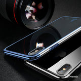 iPhone X Luxury Plating Hard Plastic Transparent Case [New Edition]