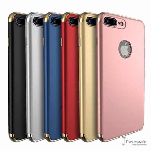 Luxury Back PC Hard Armor Shell Cover for iPhone 8/ 8 Plus
