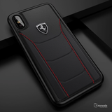 Ferrari Rode Heritage Leather Quilted Hard Case for iPhone X