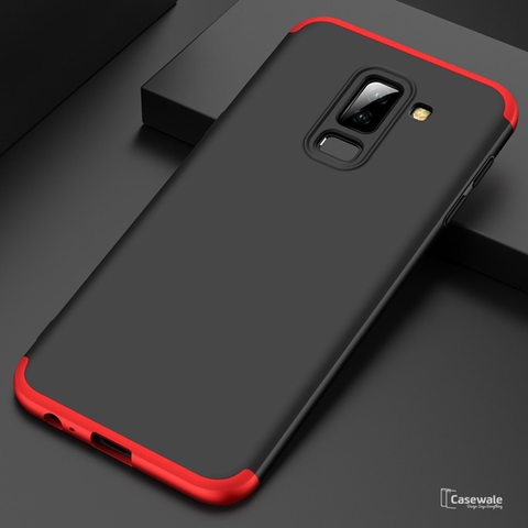 360 Protection Hard Phone Case for Galaxy A6 Plus [100% Original GKK]