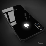 Smooth Luxury LED Light Apple Logo Case For iPhone X