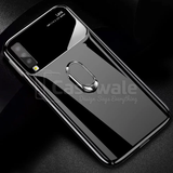 Luxury Mirror Effect Ring Bracket Phone Case for Galaxy A7 2018