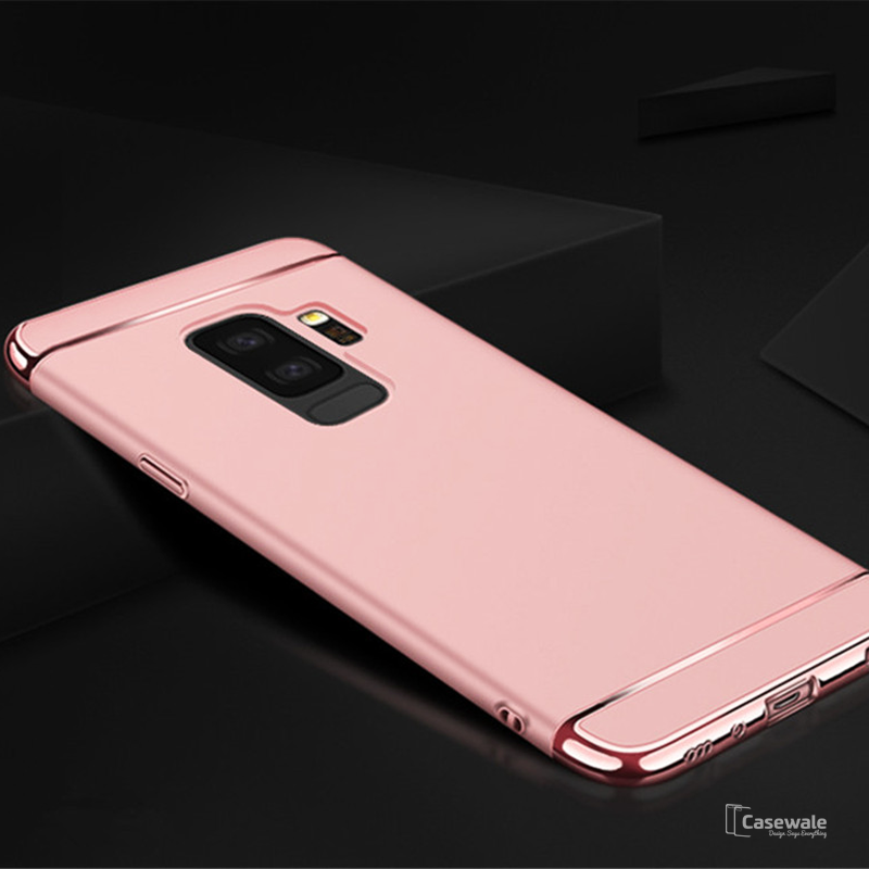 reputable site 4d6ba bfd5e Electroplating Luxury 3 in 1 Case for Samsung Galaxy A6 Plus