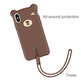 Baseus Little Bear Soft Silicone Case for iPhone XS Max