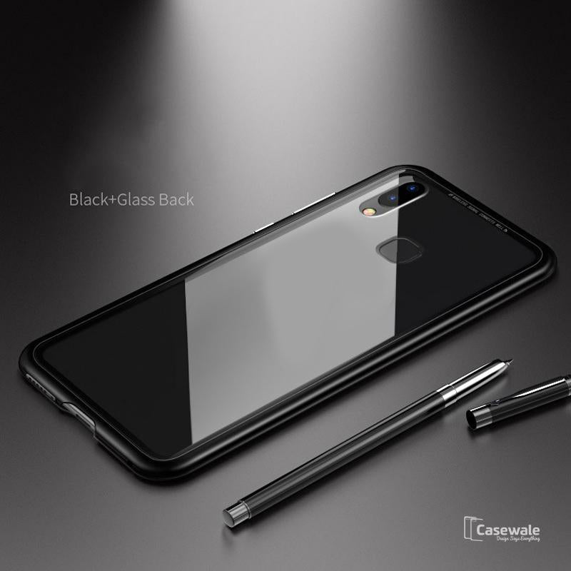 info for 9ae30 5df96 Electronic Auto-Fit Magnetic Glass Case for Redmi Note 5 Pro