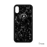 Lamborghini Glossy Finish Marble Case for iPhone XS