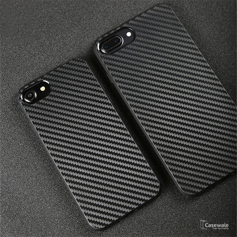 Carbon Fiber Iphone Case >> Iphone 8 8 Plus Black Original Carbon Fiber Ultra Thin Protection Case