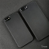 iPhone 8/ 8 Plus Black Original Carbon Fiber Ultra-thin Protection Case