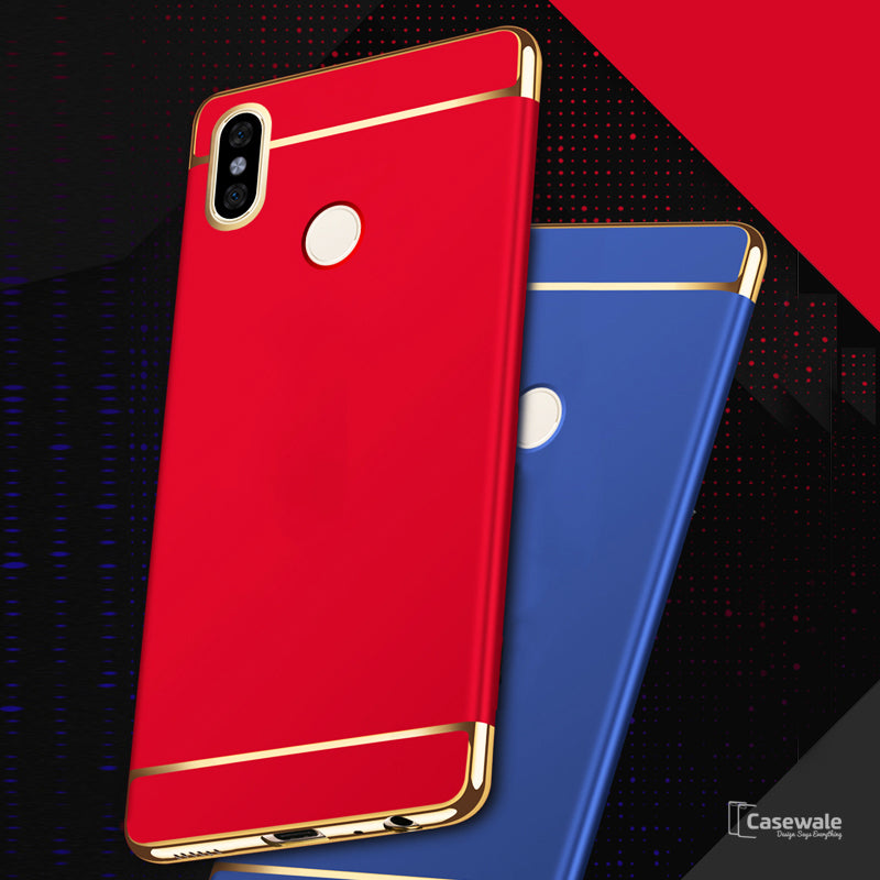 low priced 75f45 b386f Luxury Electroplating 3 in 1 Case for Redmi Note 6 Pro