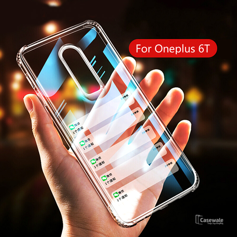 Luxury Transparent Airbag Bumper Case for OnePlus 6T