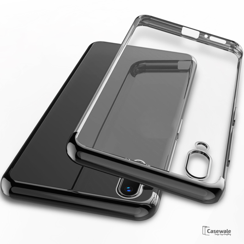 High-end Fashion Transparent Plated Case for Vivo V9