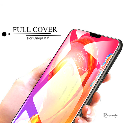 5D Curved Tempered Glass Screen Protector for OnePlus 6