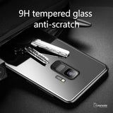 Luxury Tempered Glass Protective Phone Case for Galaxy S9/ S9 Plus