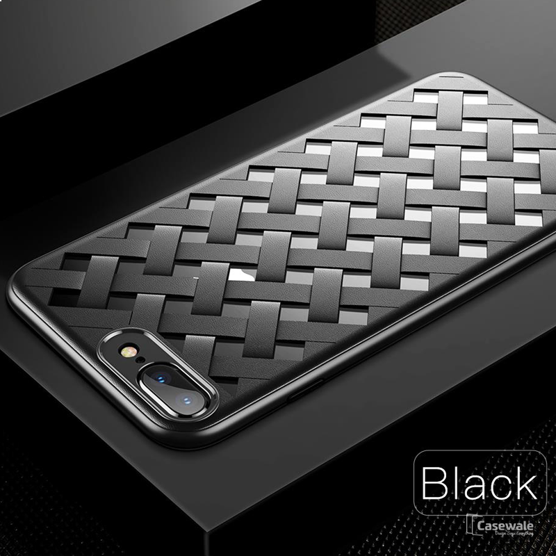 Luxury Weave Grid Hollow Ultra Thin Case for iPhone 8/ 8 Plus