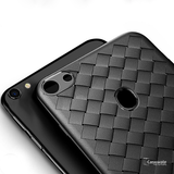 Luxury Grid Weaving Ultra Thin Protective Back Case for Oppo F7