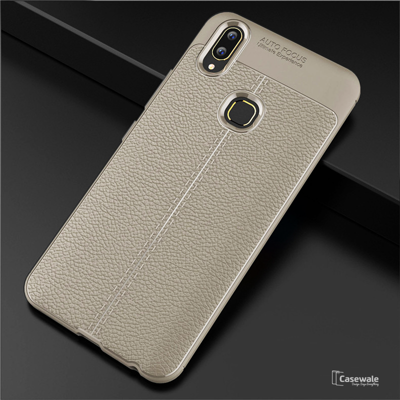 Carbon Fiber Soft Tpu Leather Case For Vivo V9 Casewale