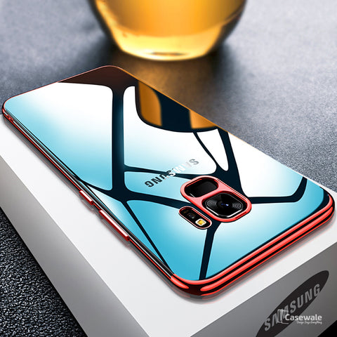Galaxy S9/S9 Plus High-end Fashion Transparent Plated Phone Case