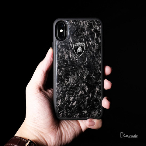 Lamborghini Marble Finish Glossy Case for iPhone X