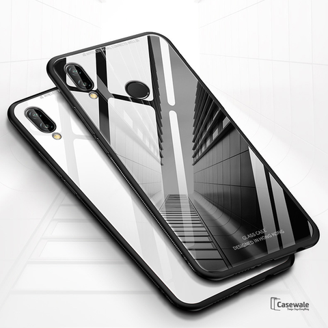 Luxury 9H Slim Tempered Glass Case for Redmi Note 7 & Note 7 Pro