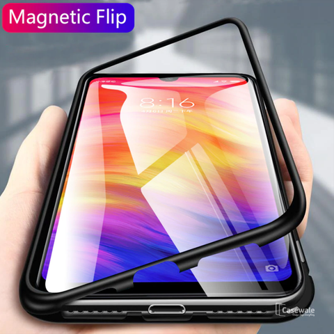 Electronic Auto-Fit Magnetic Glass Case for Redmi Note 7 & Note 7 Pro
