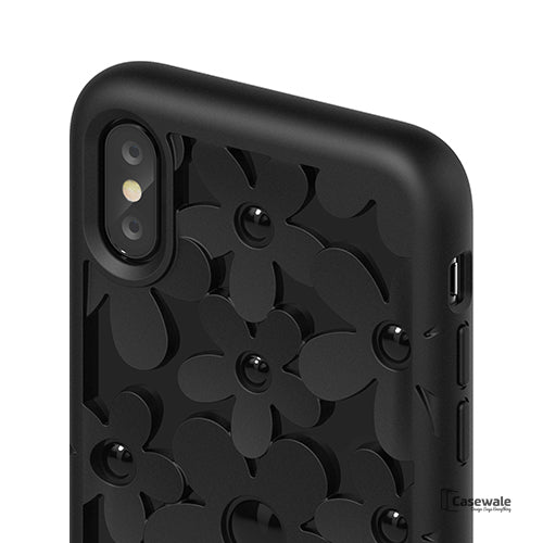 Unique 3D Floral Design Protective Case for iPhone X