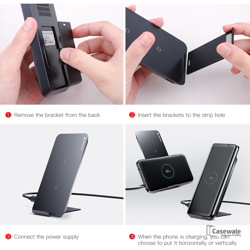 phone charger qi wireless charging dock station for iphone. Black Bedroom Furniture Sets. Home Design Ideas
