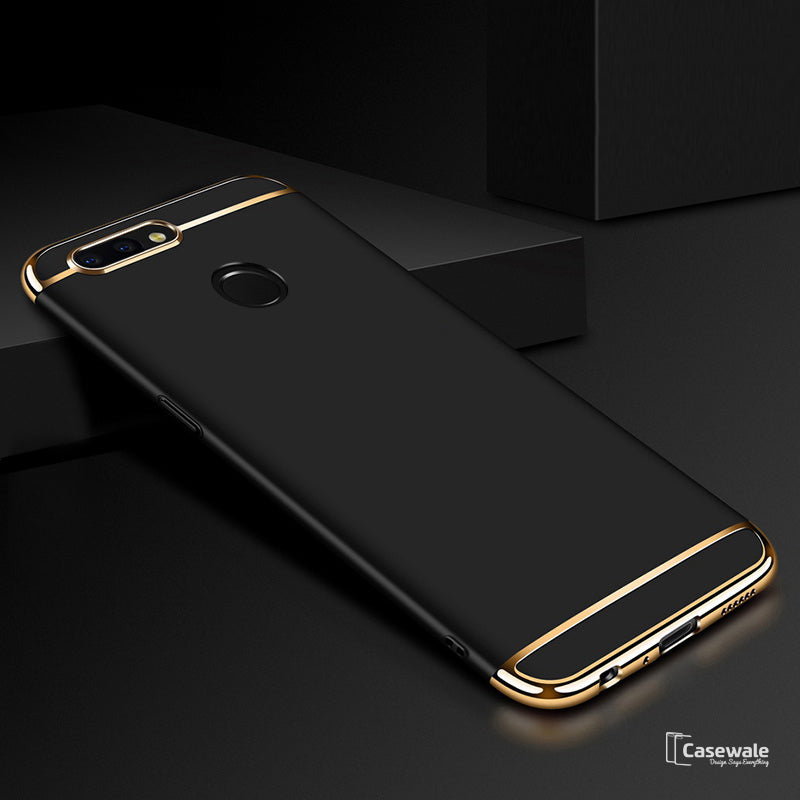 Luxury Electroplating 3 in 1 Case for OnePlus 5T