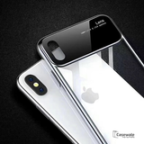 Soft TPU Border Mirror Effect Transparent Case For iPhone XS