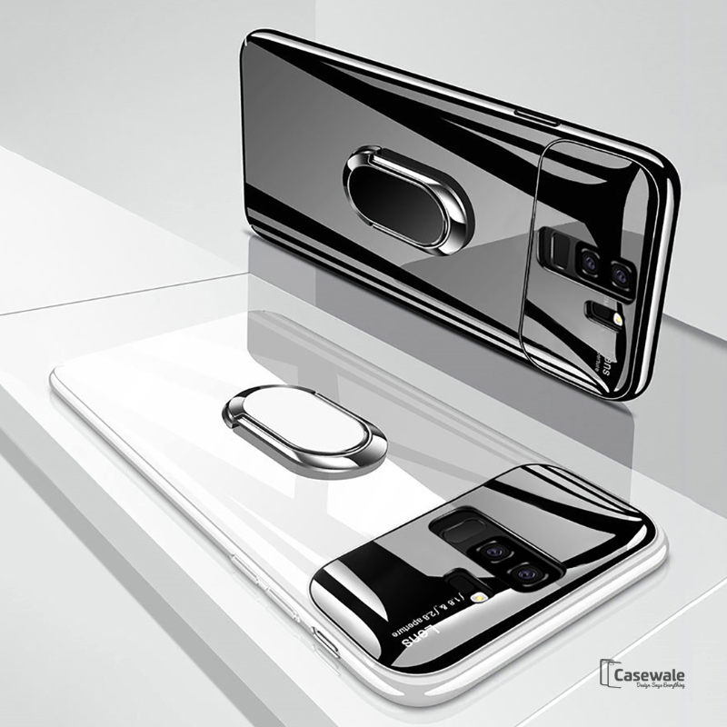 Luxury Mirror Effect Ring Bracket Phone Case