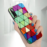 Adobe Color Marble Pattern Glass Case for Galaxy A50