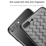 Luxury Grid Weaving Ultra Thin Case for iPhone 7, 7 Plus/ 8, 8 Plus