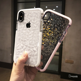 Luxury Transparent Geometric Diamond Case for iPhone XS