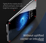 iPhone X 5D Round Curved Edge Tempered Glass Front+Back Protector
