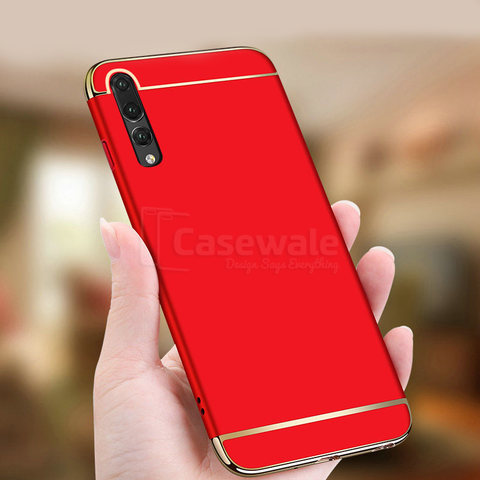 Electroplated Luxury 3-In-1 Case for Huawei P20 Pro