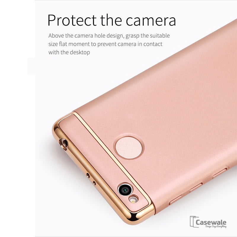 best website 5f114 717aa 3 in 1 PC Hard Armor Luxury Covers for Redmi 3S Prime