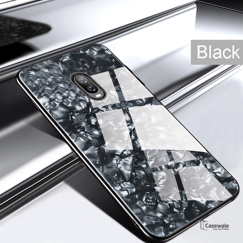 Luxury Marble Pattern Glass Phone Case for OnePlus 6T