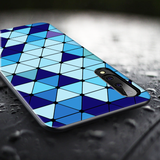 Spheres Blue Marble Pattern Glass Case for Galaxy A50