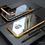 Electronic Auto-Fit Magnetic Glass Case for Galaxy S9/ S9 Plus