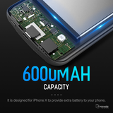 6000mAh Power Bank Battery Charger Case for iPhone X