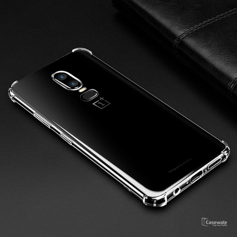 Crystal Clear Transparent TPU Soft Case for OnePlus 6