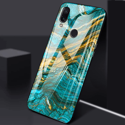 Luxury Artistic Marble Glass Case for REDMI NOTE 7 / 7 PRO