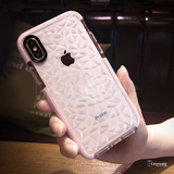 Luxury Geometric Diamond Transparent  Case for iPhone X