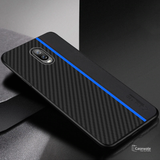 Original CENMASO Carbon Fiber PU Leather Case For OnePlus 6T