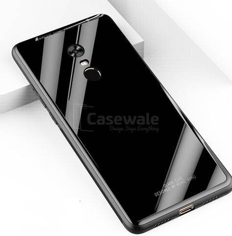 Luxury Tempered Glass Hard Back Case For Redmi Note 5