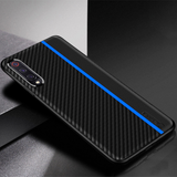Original CENMASO Carbon Fiber PU Leather Case For Galaxy A50